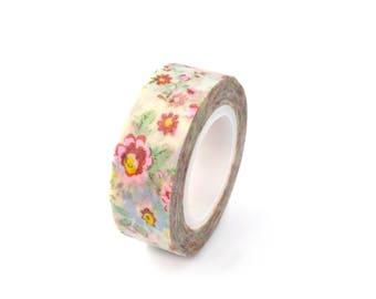 Masking tape flower pattern