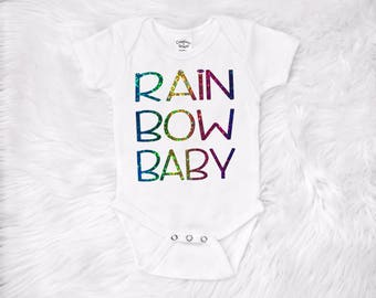 Rainbow baby onesie, Rainbow Baby Creeper, IVF Baby, Rainbow after the storm, IVF gift, gift for IVF mom, Rainbow baby bodysuit, shower gift
