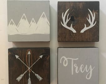 Boys Bedroom Wall | BedroomWall Decor | Personalized Sign | Rustic Boys Room | Rustic Nursery | Kids Wall Art | Rustic | Personalized Sign