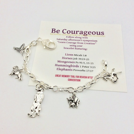 "JW ""Be Courageous 2018"", Learn Courage from Creation Saturday Symposium Bracelet."