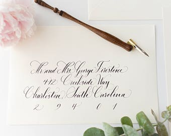 Wedding Calligraphy Envelope Addressing - Moultrie Style