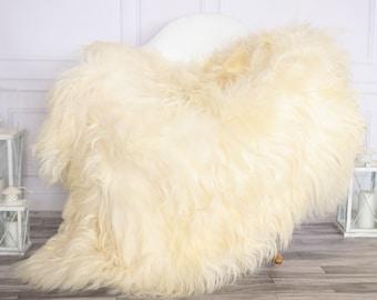 Icelandic Sheepskin | Real Sheepskin Rug | Ivory  Sheepskin Rug | Fur Rug | Christmas Decorations #octisl27