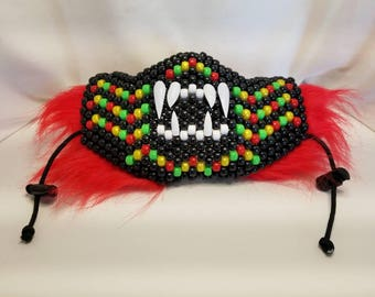 Tiny Mouth Furry Kandi Mask with Teeth