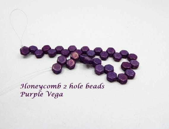 Honeycomb 2 hole bead per strand