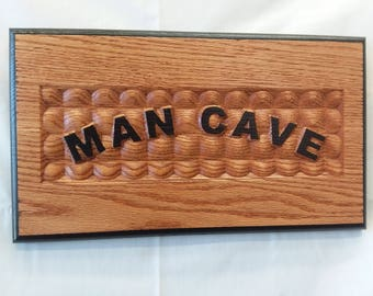 Man Cave 3D Wooden Sign