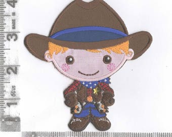 Little cowboy iron on patch by Patch Mommy