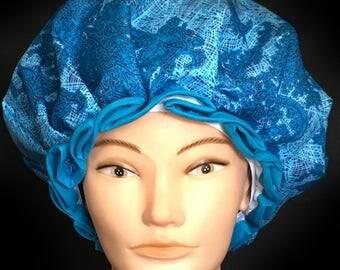 Blue Shower Cap