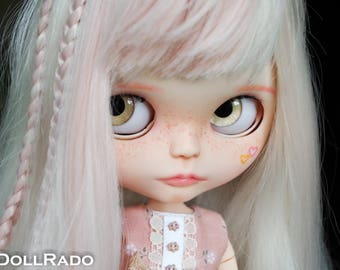 Custom Blythe Dolls For Sale by Lola by ElDollRado - factory/fake Blythe OOAK / custom doll, jointed body + outfit