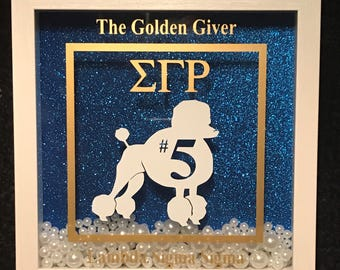 Personalized Sigma Gamma Rho Shadow Box