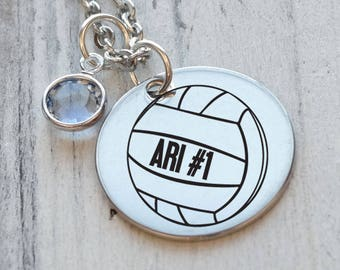 Volleyball Personalized Necklace - Engraved