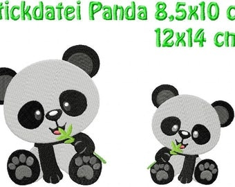 Embroidery, Panda bear 4, 9 x 10 + 13 x 14 cm