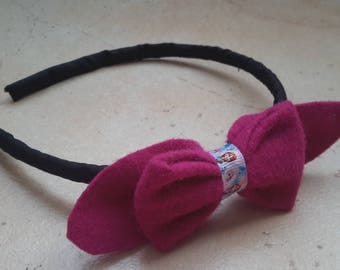 Pattern of the snow Queen Anna bow headband