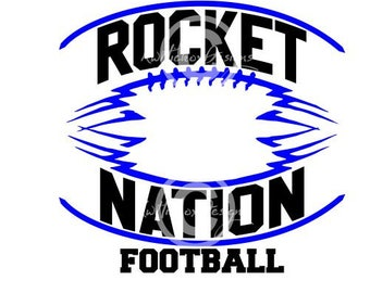 Rocket Football Svg, Football Svg, Football Dxf, Dxf For Silhouette