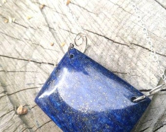 Magical size trailer lapis lazuli sterling silver