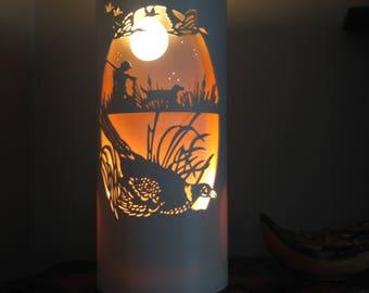Pheasant and gundog pvc lamp