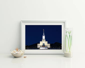 Star Valley Temple Nightscape // LDS Temples // 5 Sizes // Instant Digital Download