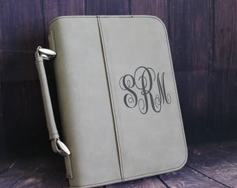 Select Size-Bible Case Cover Tan Laser Engraved Monogram Bible Case Cover with Zipper Closure-Monogram Bible Case-Bible Cover