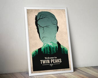 Twin Peaks poster alternative poster tv poster Agent Cooper Poster Fire Walk With Me Welcome to Twin Peaks the owls are not what they seem