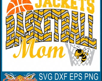 Jackets Basketball Mom| SVG| DXF| EPS| Png Cut File| Jackets| Basketball| Basketball Mom| Silhouette| Cricut| Vector File| Instant Download