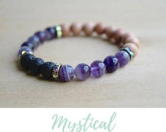Amethyst Bracelet /anxiety relief gift,spiritual mom gift,spiritual woman gift,stress relief gifts,protective bracelets,new age spirituality