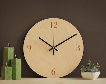 Wall Clock, Steampunk Wall Clock, Modern Clock, Wooden Wall Clock, Living  Room Part 98