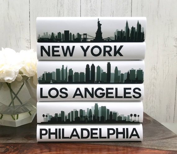 coffee table books custom cities book set city skyline. Black Bedroom Furniture Sets. Home Design Ideas