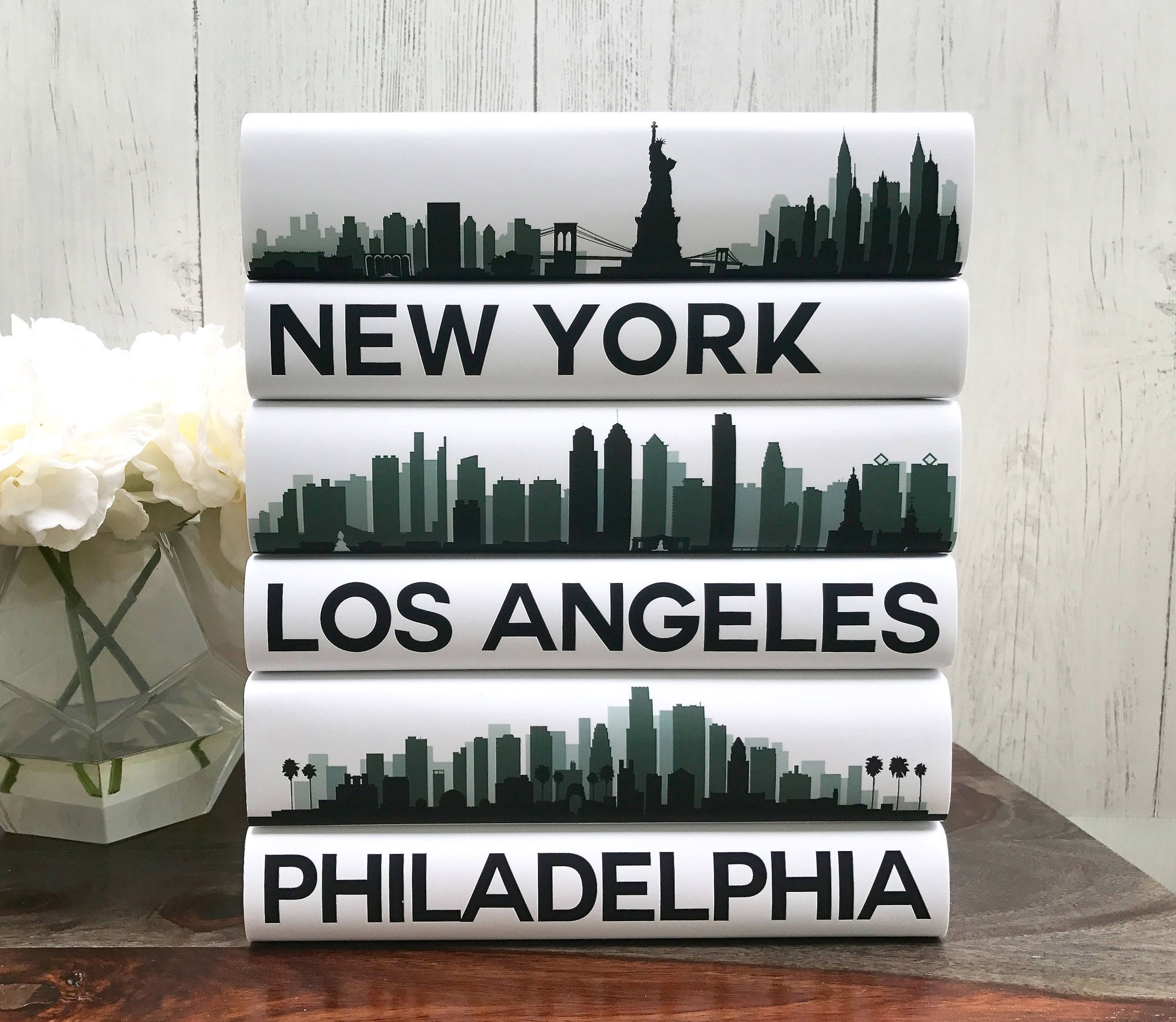 Coffee Table Books Custom Cities Book Set City Skyline