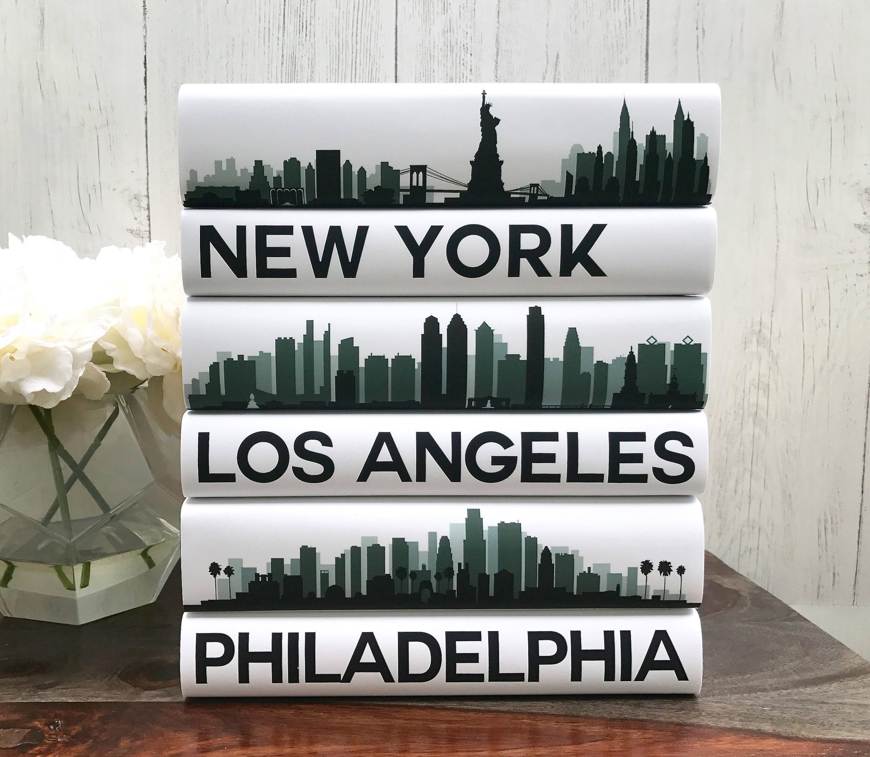 Coffee Table Books Custom Cities Book Set City Skyline
