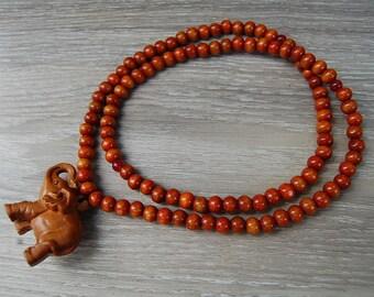 Elephant Necklace,Wooden Elephant Pendant,Wood Necklace,Wood Elephant Necklace,Men,Women,Pray,Spirituality,Prayer,Yoga,Protection,Meditation