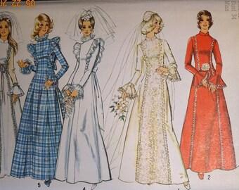 Simplicity 5313 Wedding dress, Bridesmaid dress, maxi dress, prom dress, evening gown, Granny dress, Boho style dress in size 12