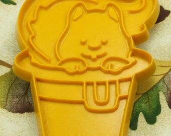 1984 Hallmark Gold Squirrel In Pilgrim Hat Thanksgiving Plastic Cookie Cutter