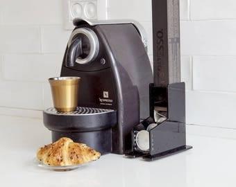 Black Nespresso Coffee Capsules Holder, 10 Capsule Storage Rack, CounterTop Stand, Coffee holder Organizer, Coffee Lover Gift, Kitchen Decor