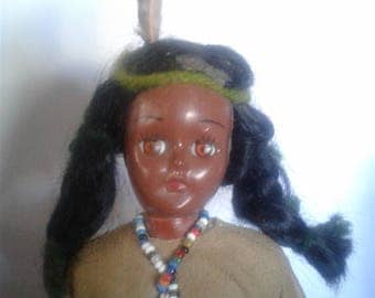 Native American / Indian Carnival Doll 1970's 7.5""