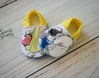 3-6m Princess Baby Booties, Baby Booties, Classic Princess Booties, Crib Shoes, Baby Shoes