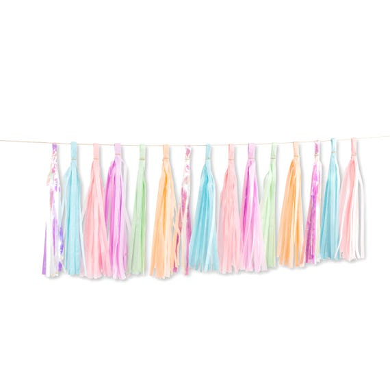 Mythical Tales Tassels, Tissue Tassels, Tassel Banner, Birthday Party Decor, DIY Tassels, Girl, Fantasy, Unicorn Magical Baby Shower