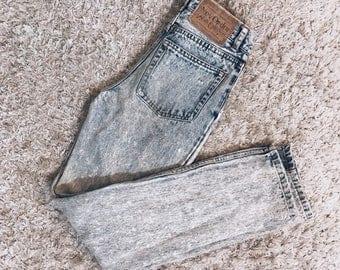 80'S Acid Washed Denim Pants