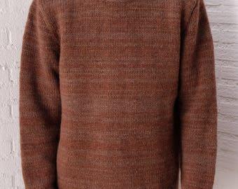 Vintage Men's Woolen Sweater Handknitted
