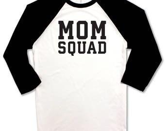 Mom Squad Baseball Tee