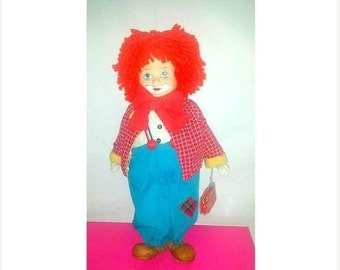 Vintage Porcelain Face Musical Clown,CHIPS the Clown,Russ, Russ Berrie,Circus Clown,Musical Clown Doll,Kitsch,Clown,Chips,Circus Clown,1984