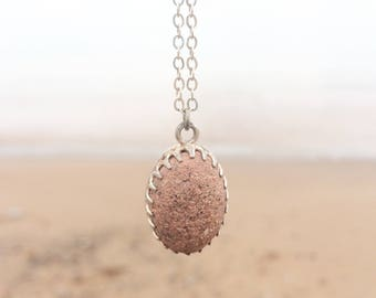 Lake Superior Sandstone, Essential Oil Gift, Essential Oil Diffuser Necklace Diffuser, Aromatherapy Jewelry, Young Living Doterra, Gift