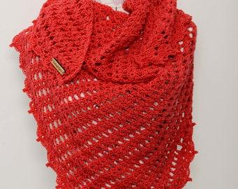 Crochet Diagonal Shawl