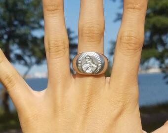 Bigfoot signet ring