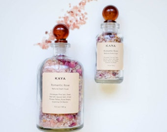 Rose Bath Salts | 100% Natural | Floral Bath soak | Gift for her | Gift for Mom | Birthday | Thanksgiving | Christmas Gift