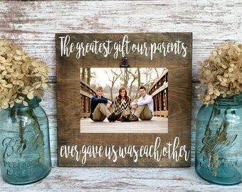 Sibling Picture Frame, Sister Christmas Gift, Brother Gift, Family Picture Frame