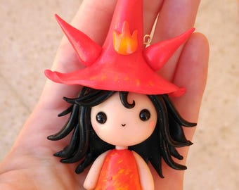 Firey Witchy WITCHIES COLLECTION Kawaii Necklace Keychain or Figure