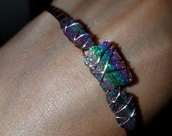 Rainbow Hematite bangle
