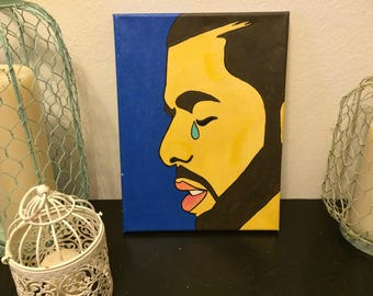 Teary Eyed Drake Portrait Painting