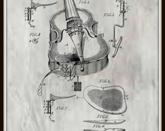Violin Rest Patent # 451744 dated May 5, 1891.
