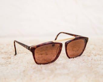 80s Corning Optics Serengeti Drivers Tortoise Acetate Aviator Sunglasses • L