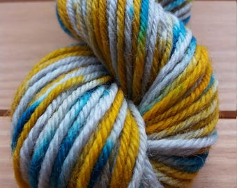 Sand storm. Hand dyed yarn 50g dk Superwash 100% wool